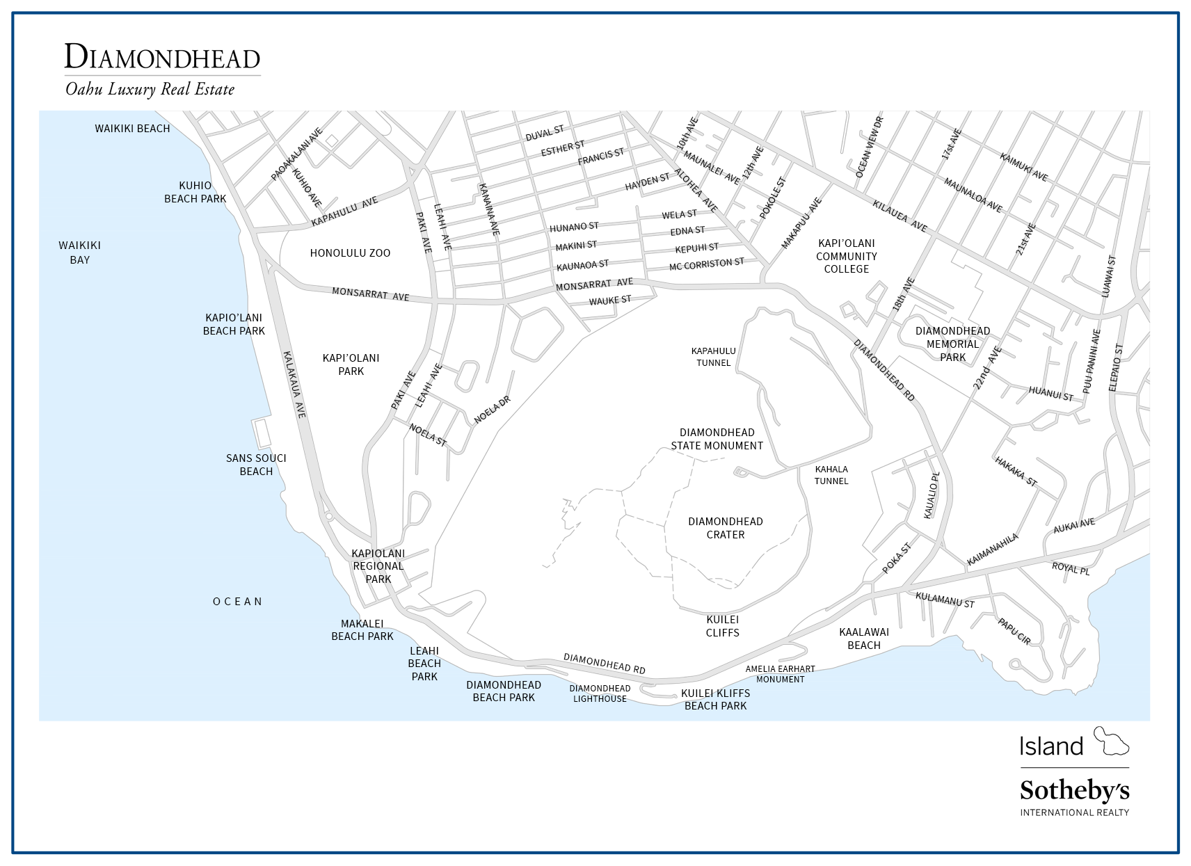 diamond head map real estate